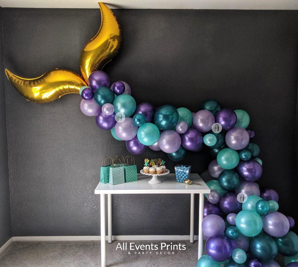 Shimmering Mermaid Tail Balloon Garland Diy Kit 10 Ft Or