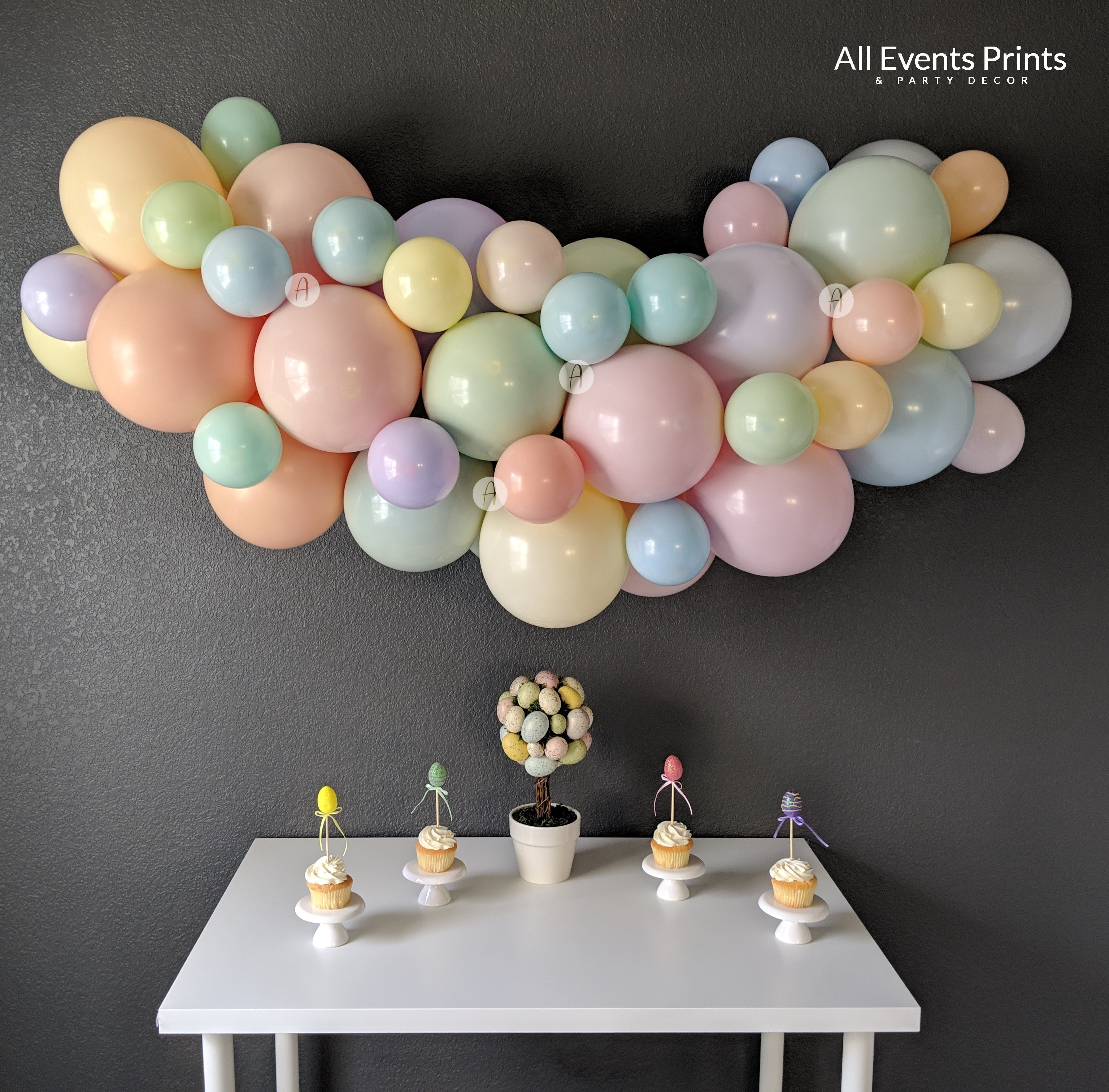 Custom Artisan Pastel Balloon Garland Diy Kit 4 Ft To 25 Ft Choose Your Own Colors Includes Balloon Pump Wall Hooks Twine All Events Prints Party Decor