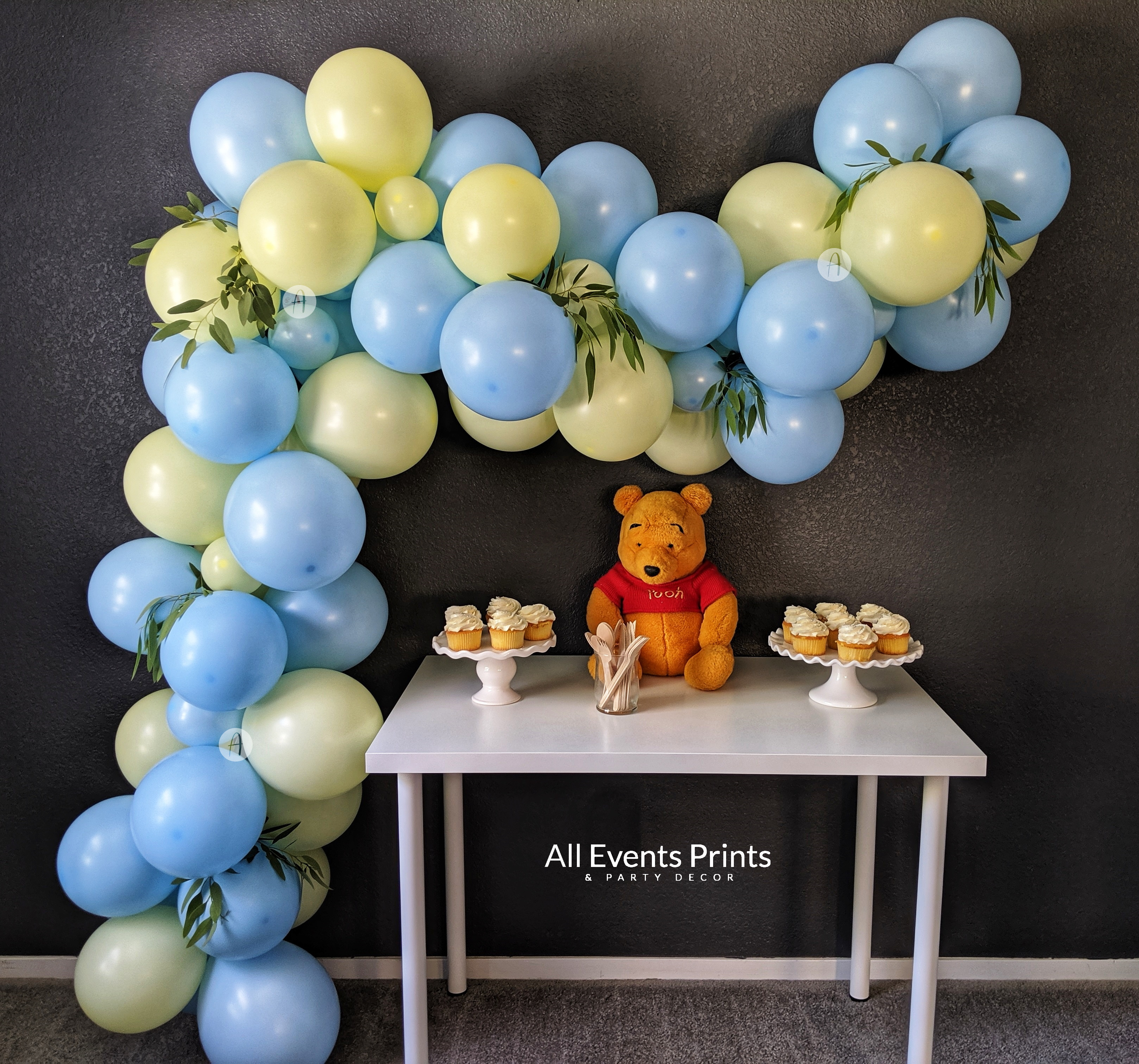 Oh Pooh Balloon Garland Diy Kit 5 Ft 25 Ft Includes Everything That You Will Need For Assembly All Events Prints Party Decor