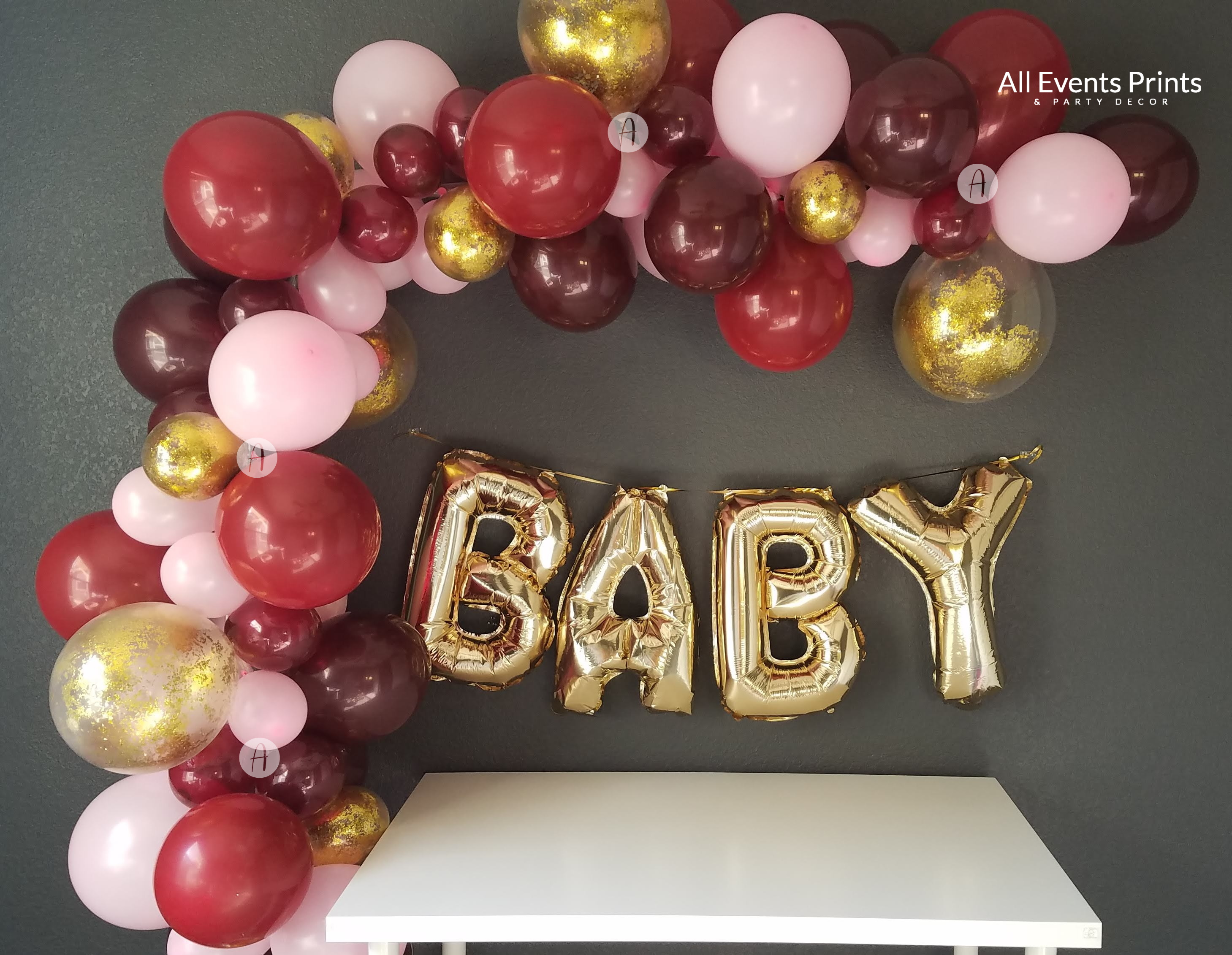 Premium Burgundy Balloon Garland Kit 5 Ft 20 Ft Includes Pump Finishing Kit All Events Prints Party Decor
