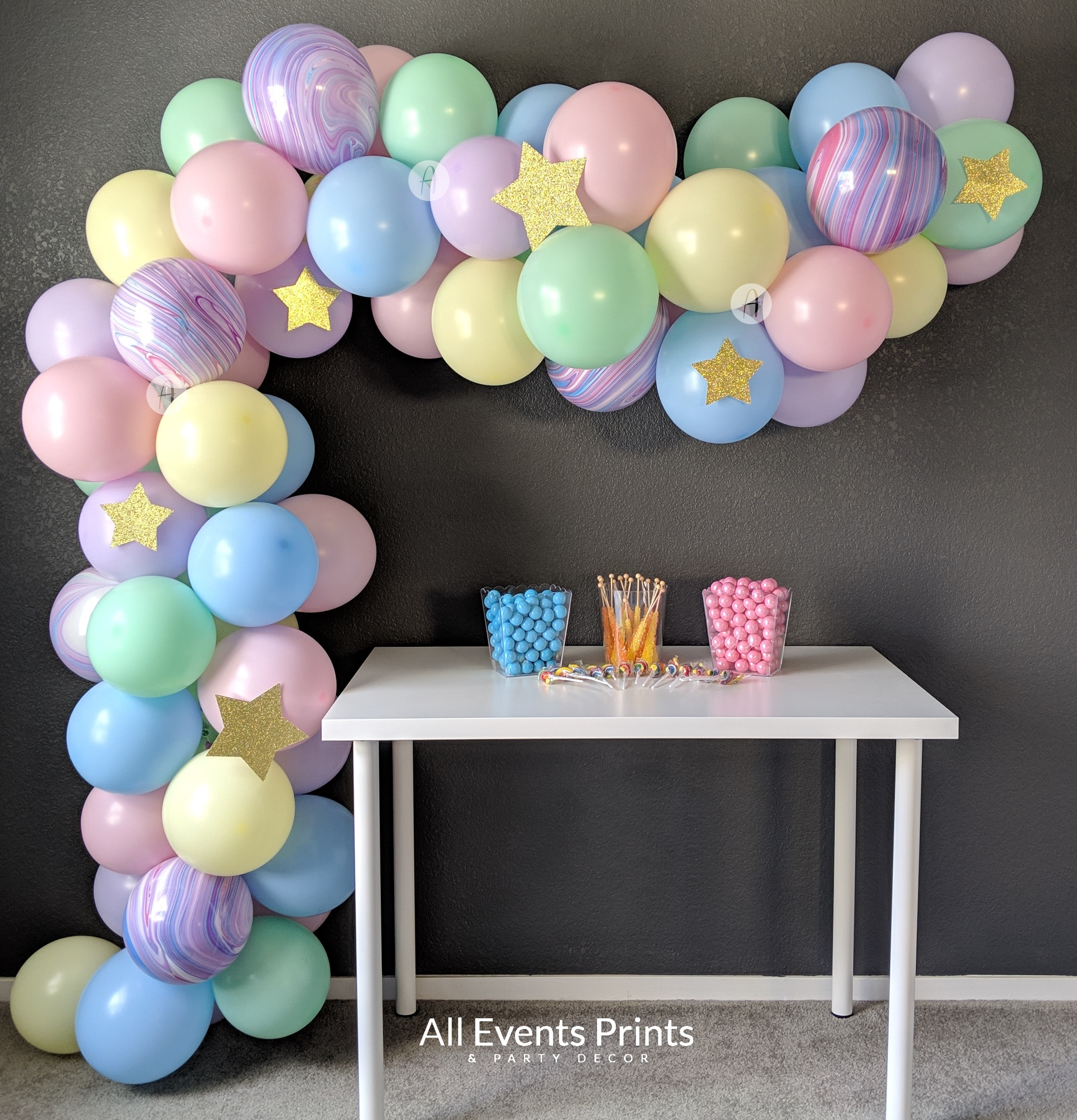Unicorn Balloon Garland Pastel Rainbow Diy Kit 5 Ft To 25 Ft Includes Everything That You Will Need For Assembly All Events Prints Party Decor