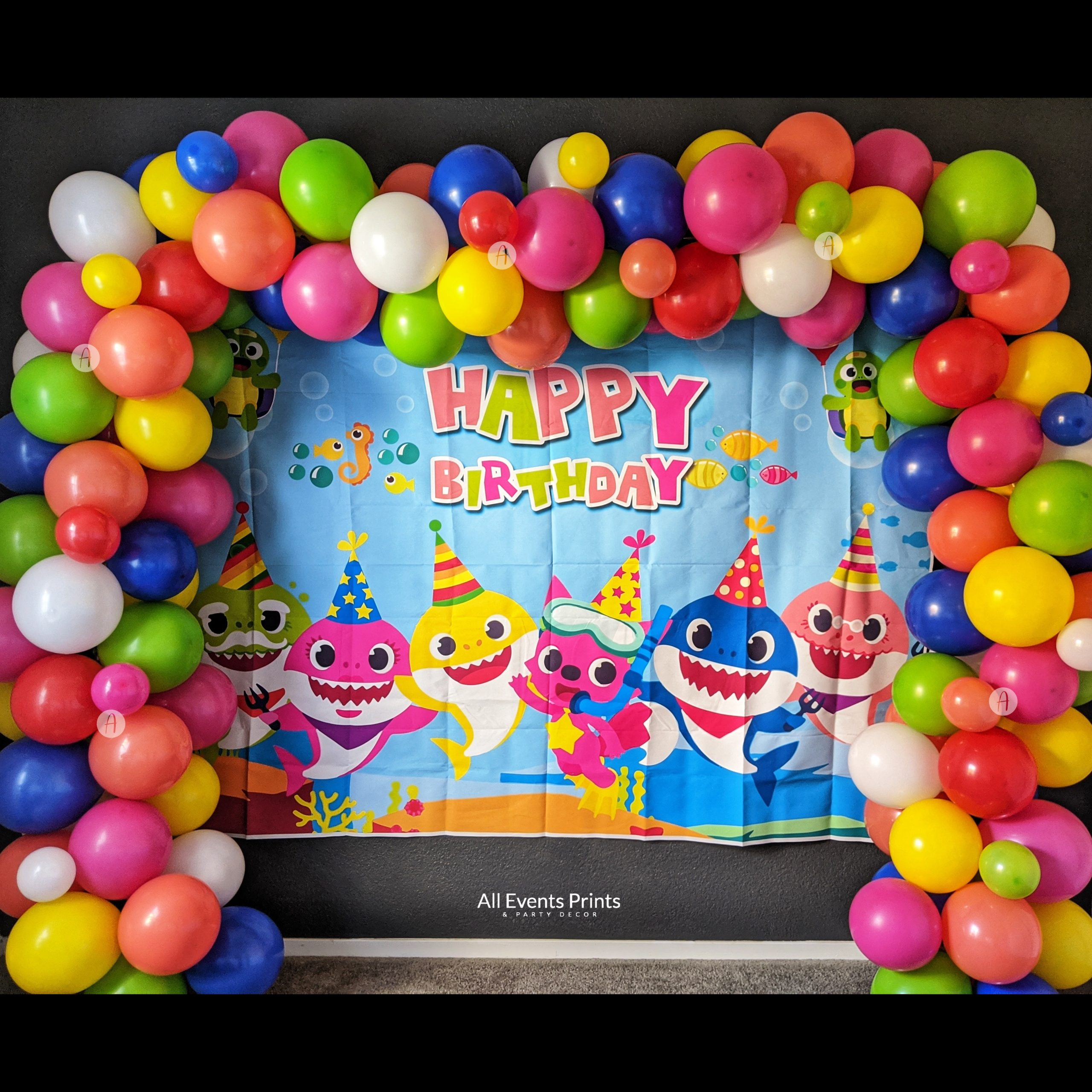 Baby Shark Inspired Balloon Garland DIY Kit (5 Ft to 25 Ft ...
